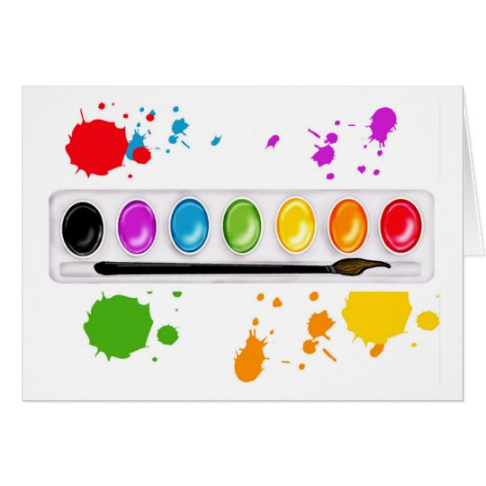 paint box with splatters card
