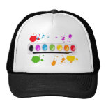 paint box with splatters hats