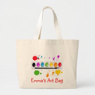 paint box with splatters jumbo tote bag