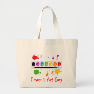 paint box with splatters large tote bag