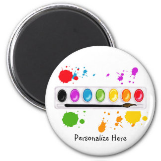 paint box with splatters magnet