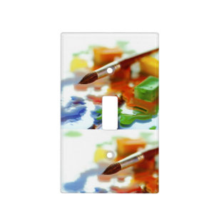 Paint Brush Art Room Light Switch Plate Cover