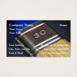 Paint brush business card