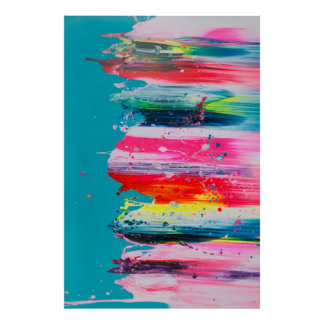 Paint Brush Color Poster