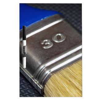 Paint brush dry erase board