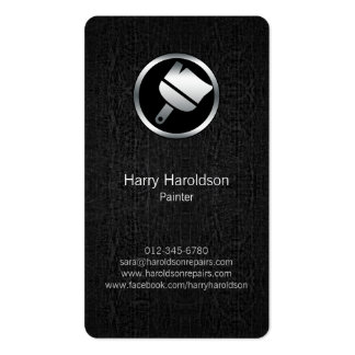 Paint Brush Icon Grunge Painter Business Card