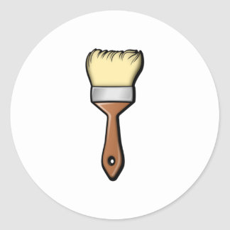 Paint Brush Classic Round Sticker