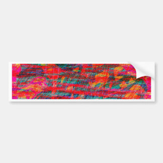 Paint Brush Strokes Abstract rainbow Metal Sheet R Bumper Sticker