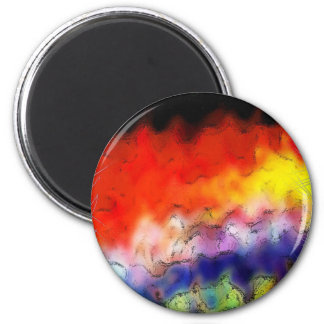 Paint Brush Strokes Abstract rainbow Metal Sheet R Magnet