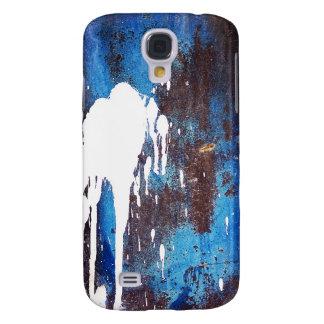 Paint Brush Strokes Abstract rainbow Metal Sheet R Samsung S4 Case