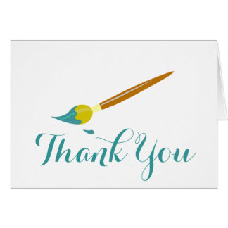 Paint Brush Thank You Card