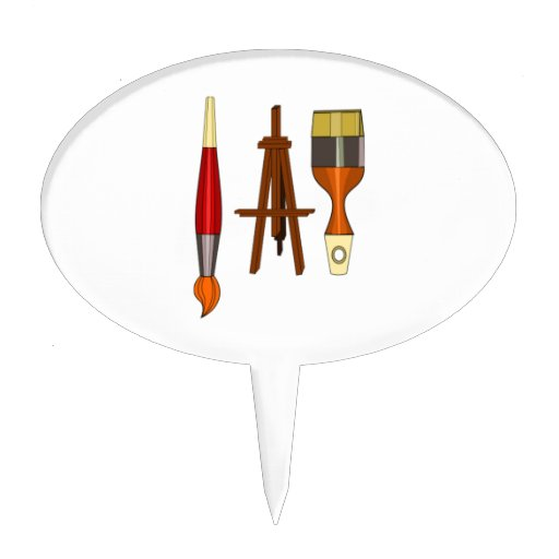 Art Easel Cake Topper : Paint Brushes and Art Easel Cake Toppers Zazzle