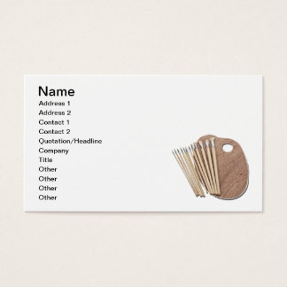 Paint Brushes and Palette Business Card
