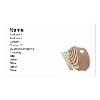 Paint Brushes and Palette Business Card Templates