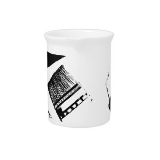 paint brushes beverage pitcher