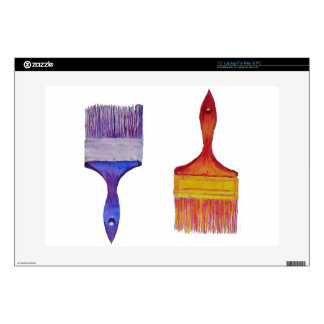 paint brushes decal for laptop