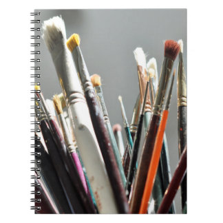 Paint brushes drying in the sunlight 2 notebook