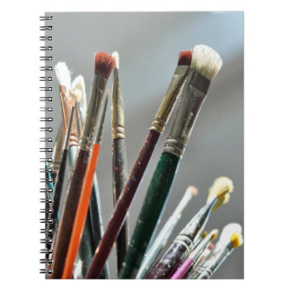 Paint brushes drying in the sunlight notebook