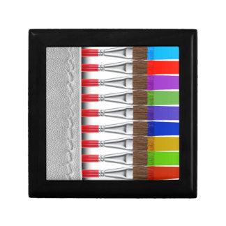 Paint Brushes Keepsake Box