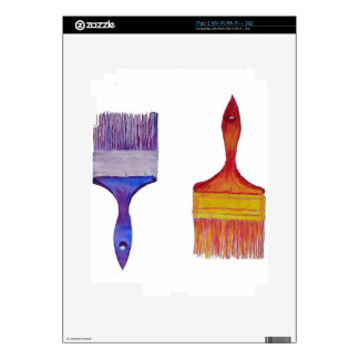 paint brushes iPad 2 decal