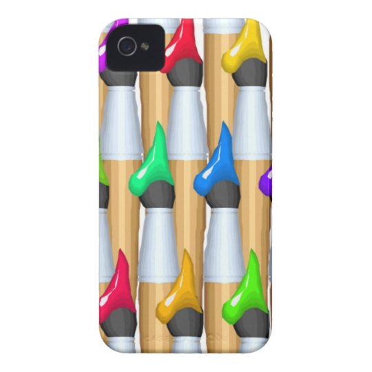 Paint Brushes iPhone 4 Cover