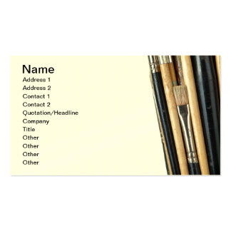 Paint Brushes Isolated On White Background Double-Sided Standard Business Cards (Pack Of 100)