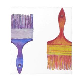 paint brushes notepad