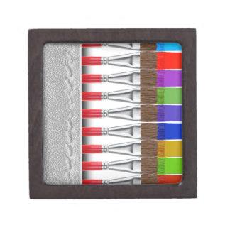 Paint Brushes Premium Trinket Boxes
