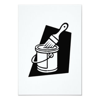 Paint Can and Brush Card