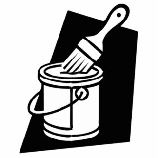 Paint Can and Brush Cutout