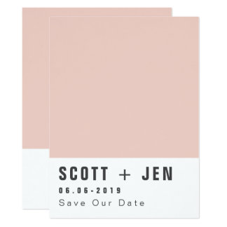 PAINT CHART SAVE THE DATE CARD