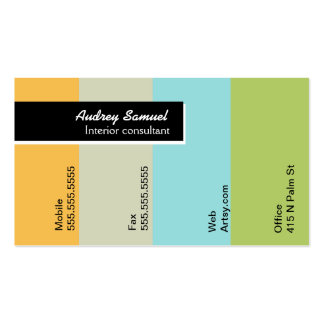 Paint Chip Double-Sided Standard Business Cards (Pack Of 100)