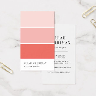 Interior Design Business Cards Templates