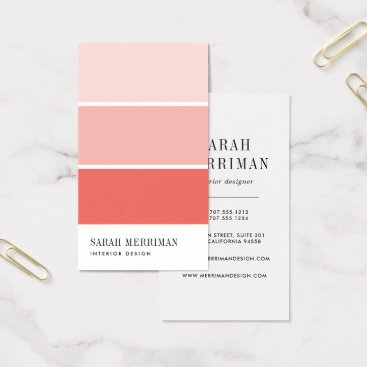 Professional Business Paint Chip | Editable Color Interior Designer Business Card