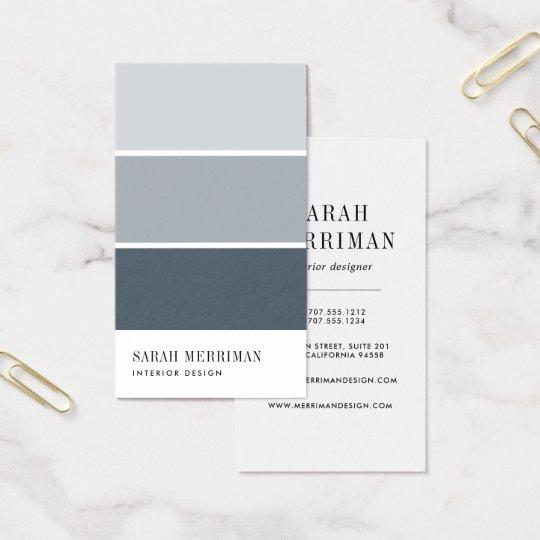 Paint Chip | Editable Color Interior Designer Business Card ...
