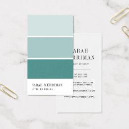business cards interior design. Paint Chip | Editable Color Interior Designer Business Card Cards Design U
