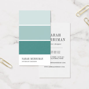 Interior design business cards templates zazzle paint chip editable color interior designer business card reheart Image collections
