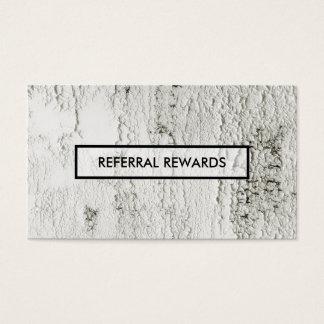paint chip referral rewards program business card