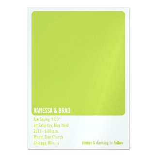 PAINT CHIP Wedding Invitation/Announcement Card