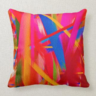 Paint Color Splatter Brush Stroke Throw Pillows