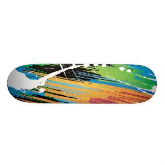 paint colorful grunge skateboard