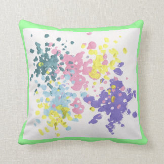 Paint cusion throw pillow