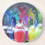 paint dancers coasters