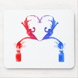 Paint Dancers in Heart Mouse Pads