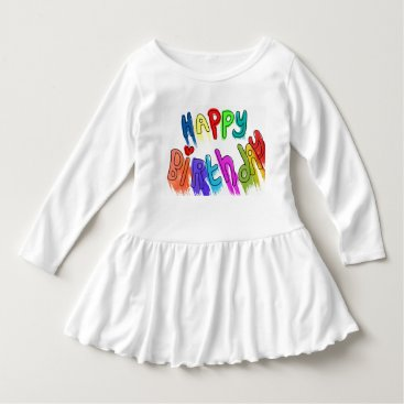 font themed Paint Dripping Happy Birthday Dress