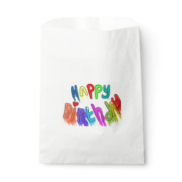 font themed Paint Dripping Happy Birthday Favor Bag