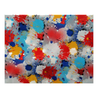 Paint Drips and Splotches Scrapbooking Paper