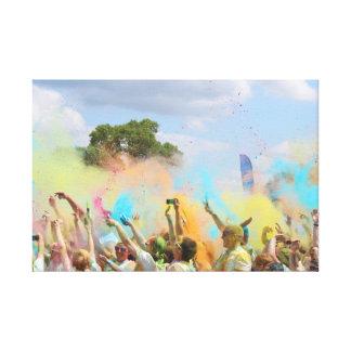 Paint Festival Canvas Print