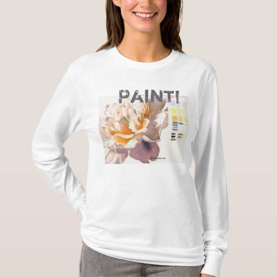Paint! Flower Watercolor Tee Shirt