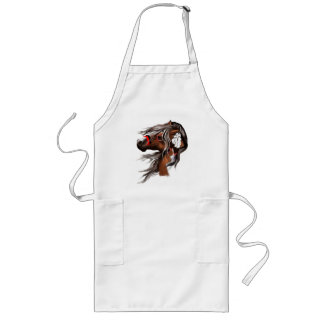 Paint Horse and Feathers Apron